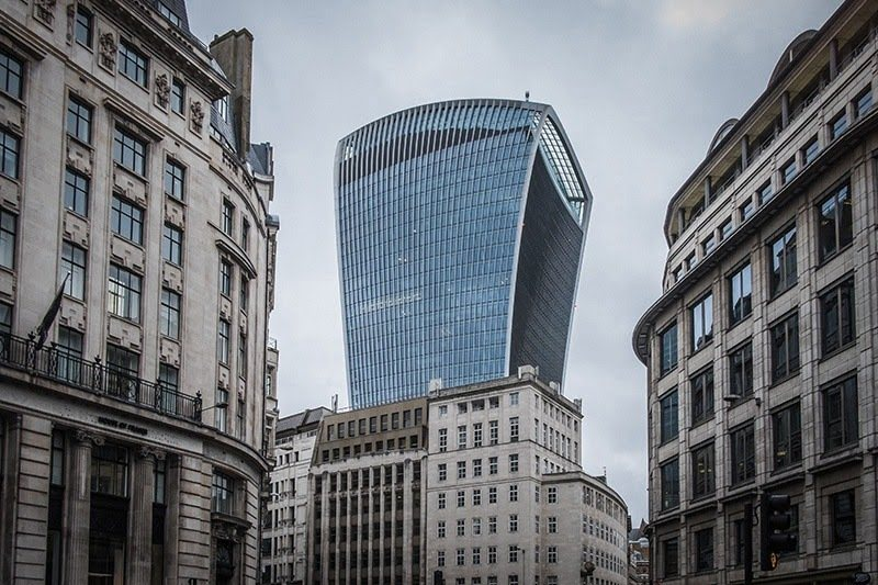 Five Of The Most Interesting Buildings In London Essential Living - London-gherkin-an-unusual-eggshaped-building