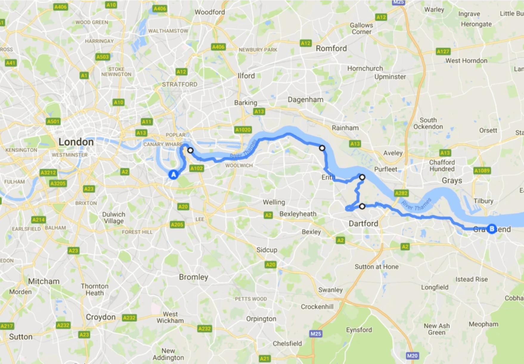 Greenwich to Woolwich cycle route